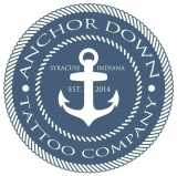 Anchor Down Tattoo Company Logo