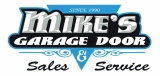 Mike's Garage Door Logo